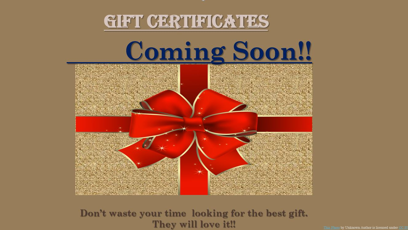 gift certificated